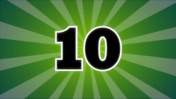 Tellekorpset leker med tall og telling, mengder og størrelser.        Dagens tall er 10.
