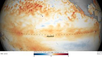 TILBAKE: Fenomenet El Niño er tilbake, men i mykje svakare grad enn tidlegare.