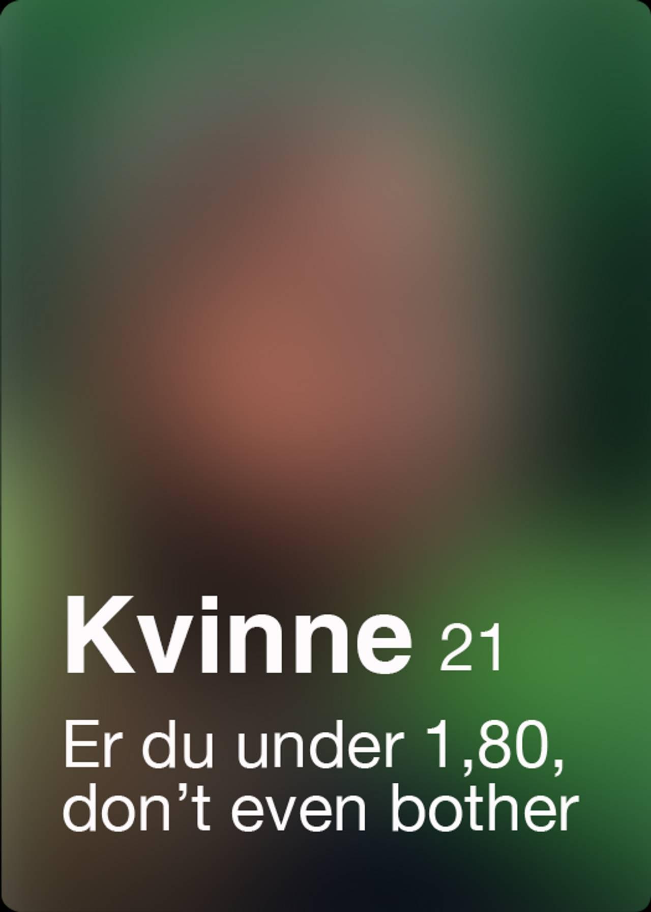 Tinder-profil med alderskrav - 10