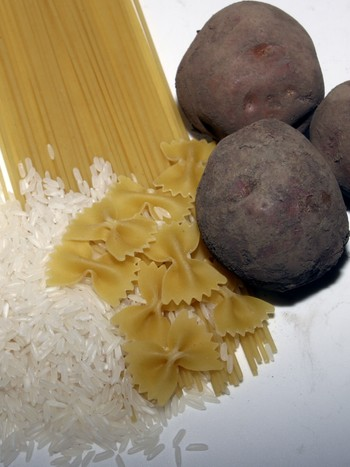 Poteter, pasta og ris