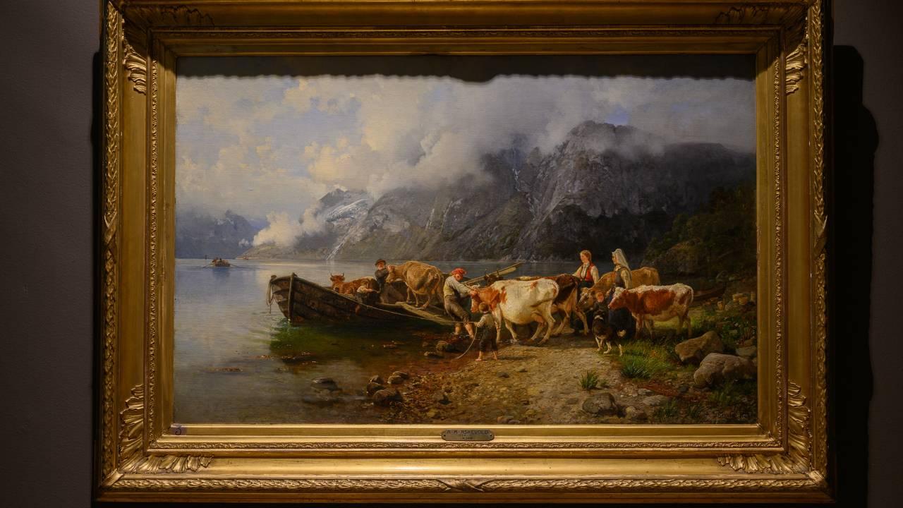 Maleri av J. C. Dahl, som henger på KODE i Bergen.