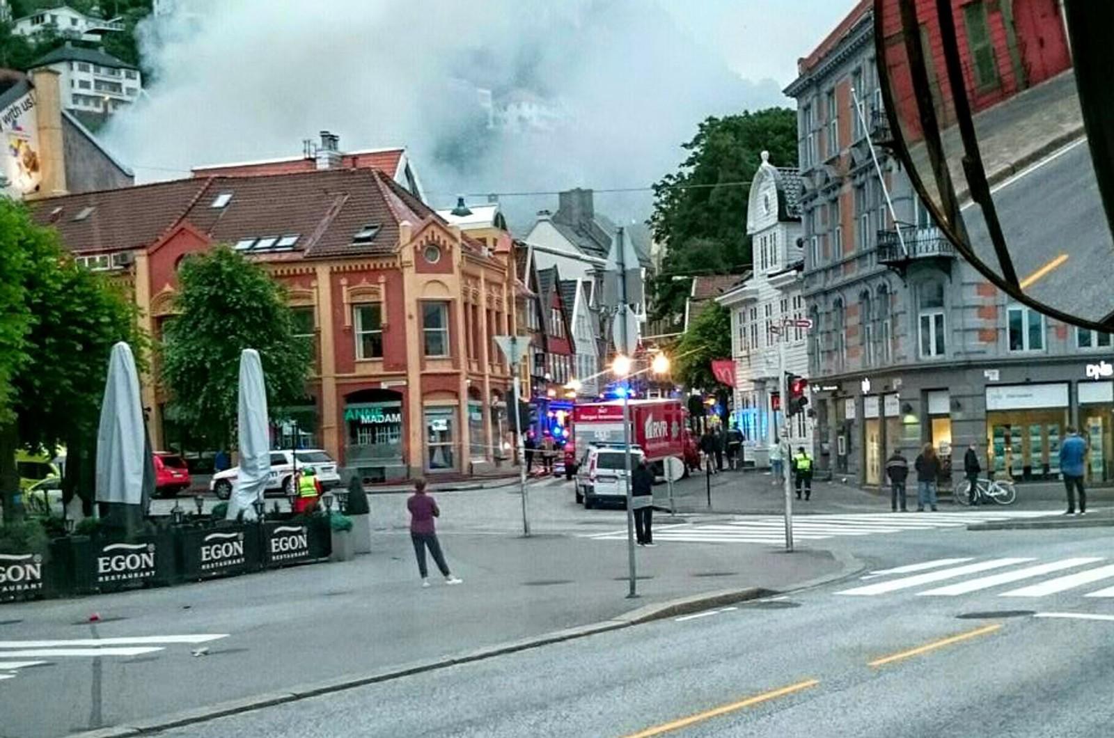 Brannen sett fra Torget.