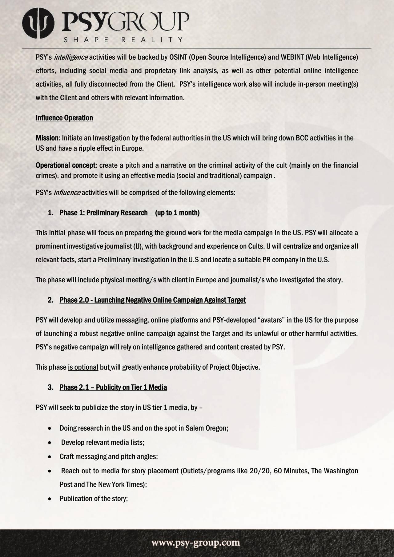 Side 3 i Psy-Group-kontrakten