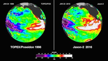 El Nino februar 1998 og 2016