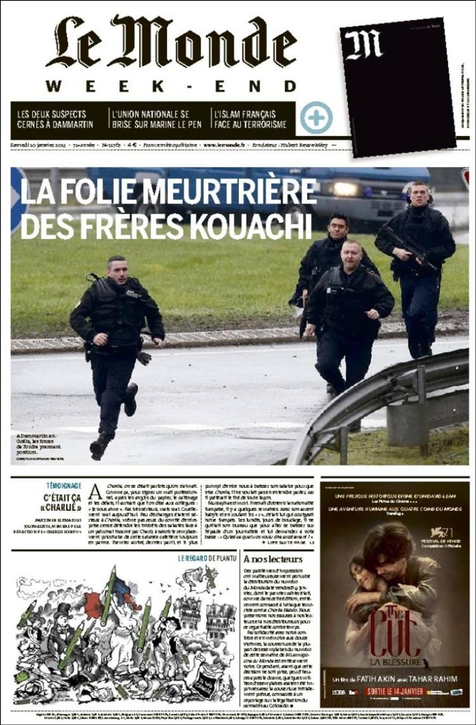 Le Monde: Den vanvittige mordlysten til brødrene Kouachi.