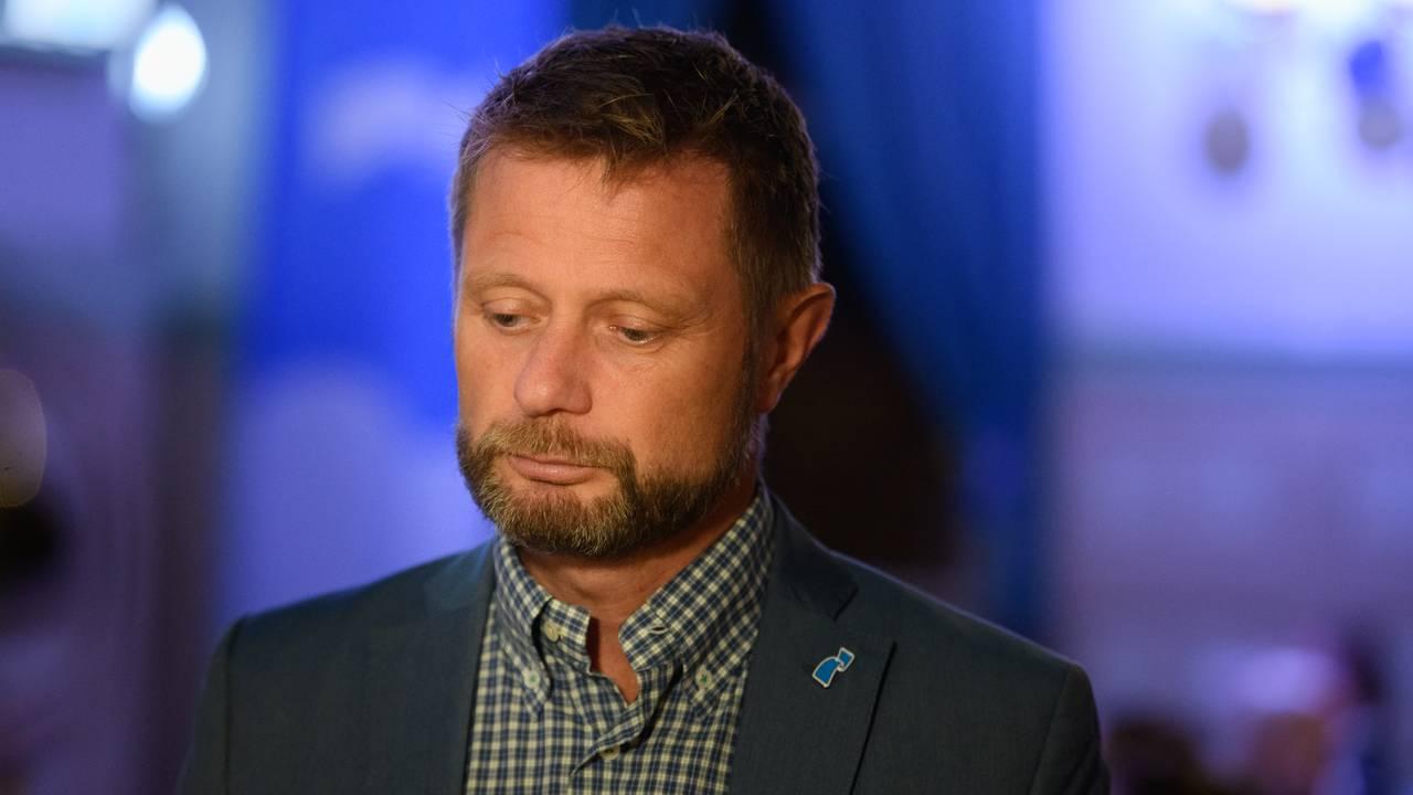 Bent Høie på valgvake til Høyre i på Gaffel og Karaffel i Stavanger