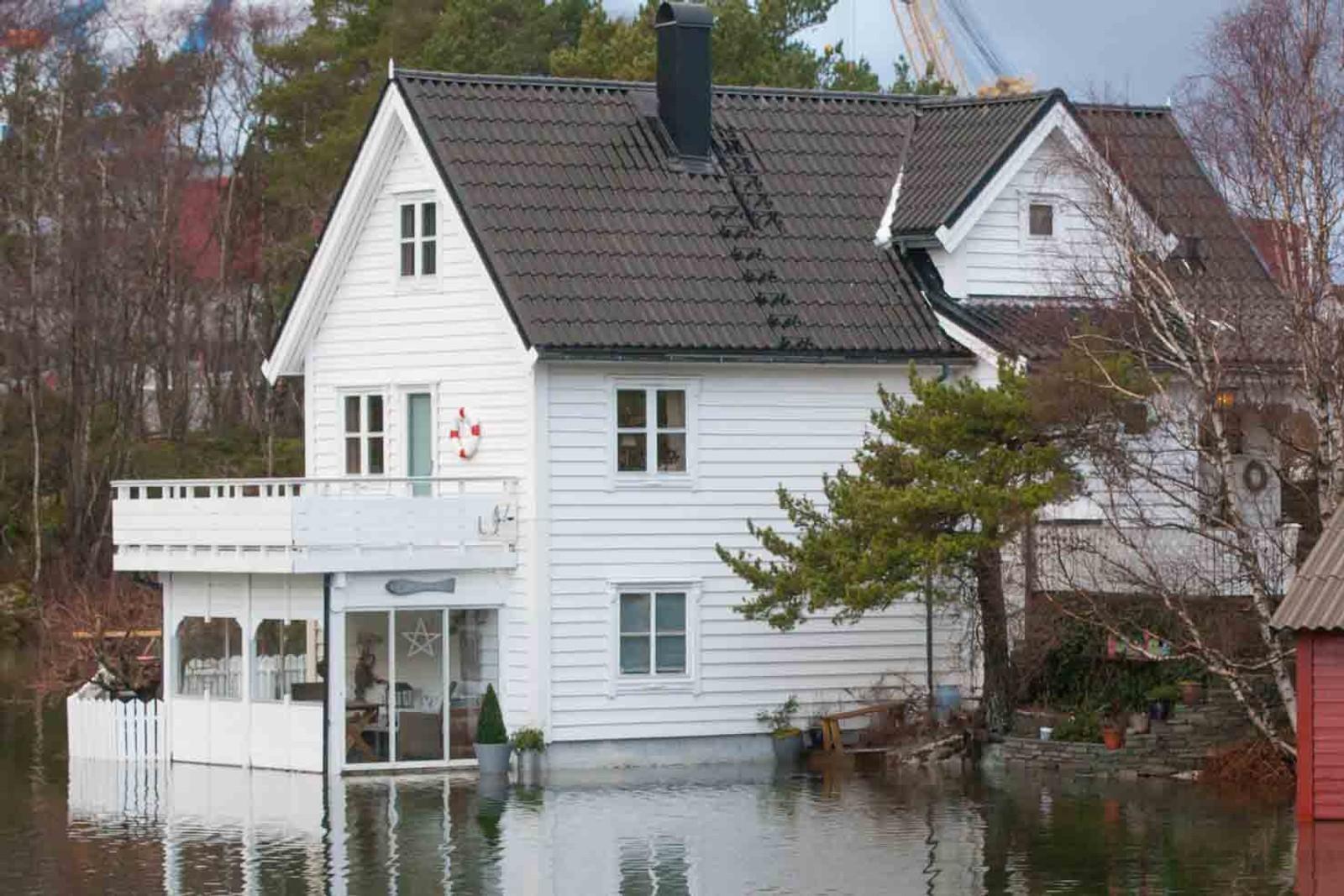 Denne huseigaren kan trygt seie at huset ligg ved havet.