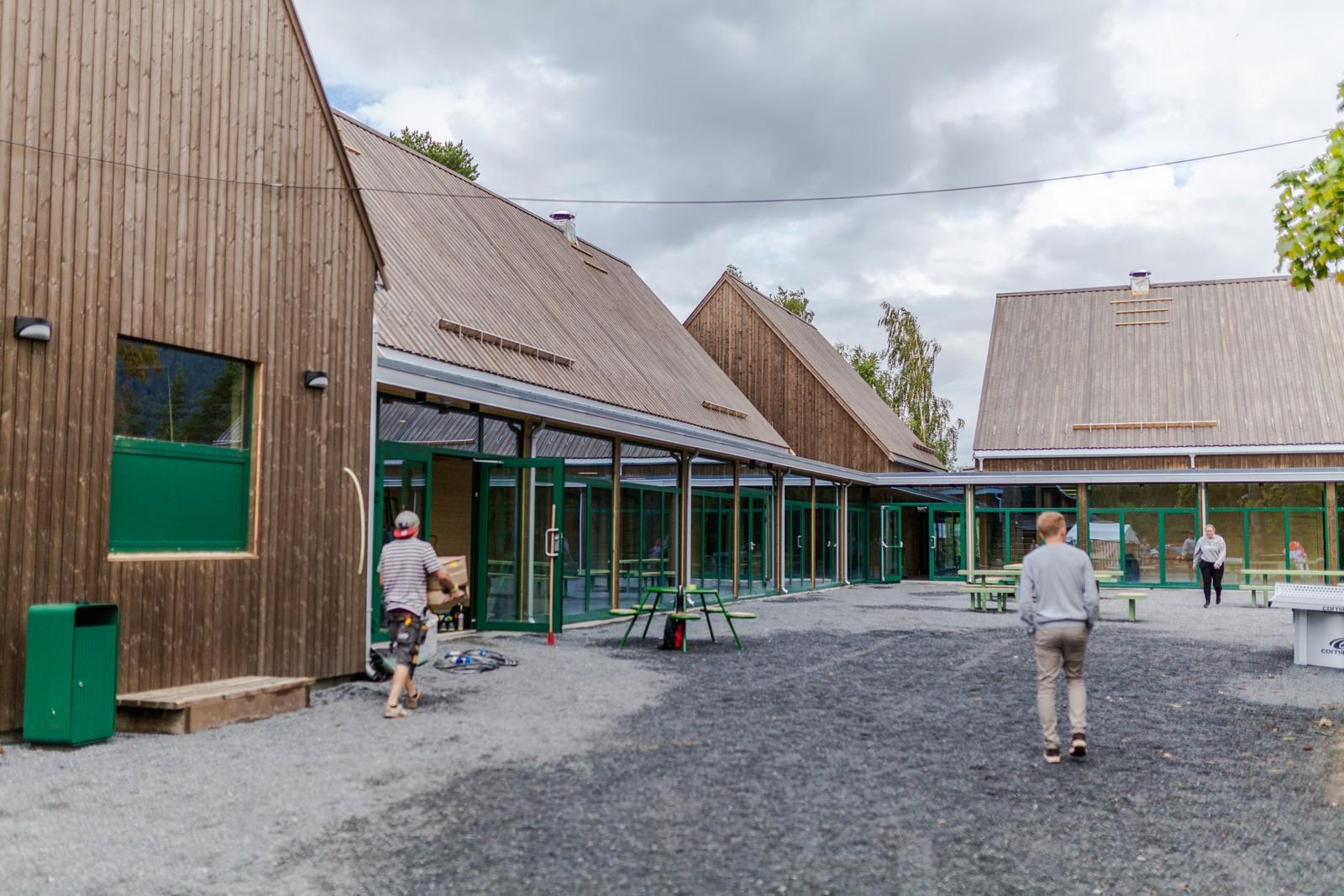 Nybygget der kafé og konferansesal er plassert.