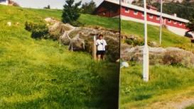 Arve Wergeland ved målestasjonen på Brekke i 1997 - Foto: Meteorologisk institutt