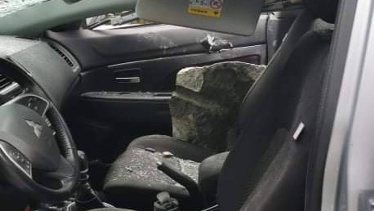 Gregorz Mazur's car with a new passenger, stone.