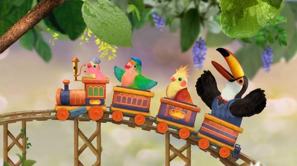 Britisk animasjonsserie. De tre småfuglene Samuel, Muffin og Rudy elsker å synge, danse og leke! Stadig er de ute i skogen på spennende eventyr, og er de heldige tar Herr Nebbe og fru Kiwi seg tid til å leke og synge sammen med dem.