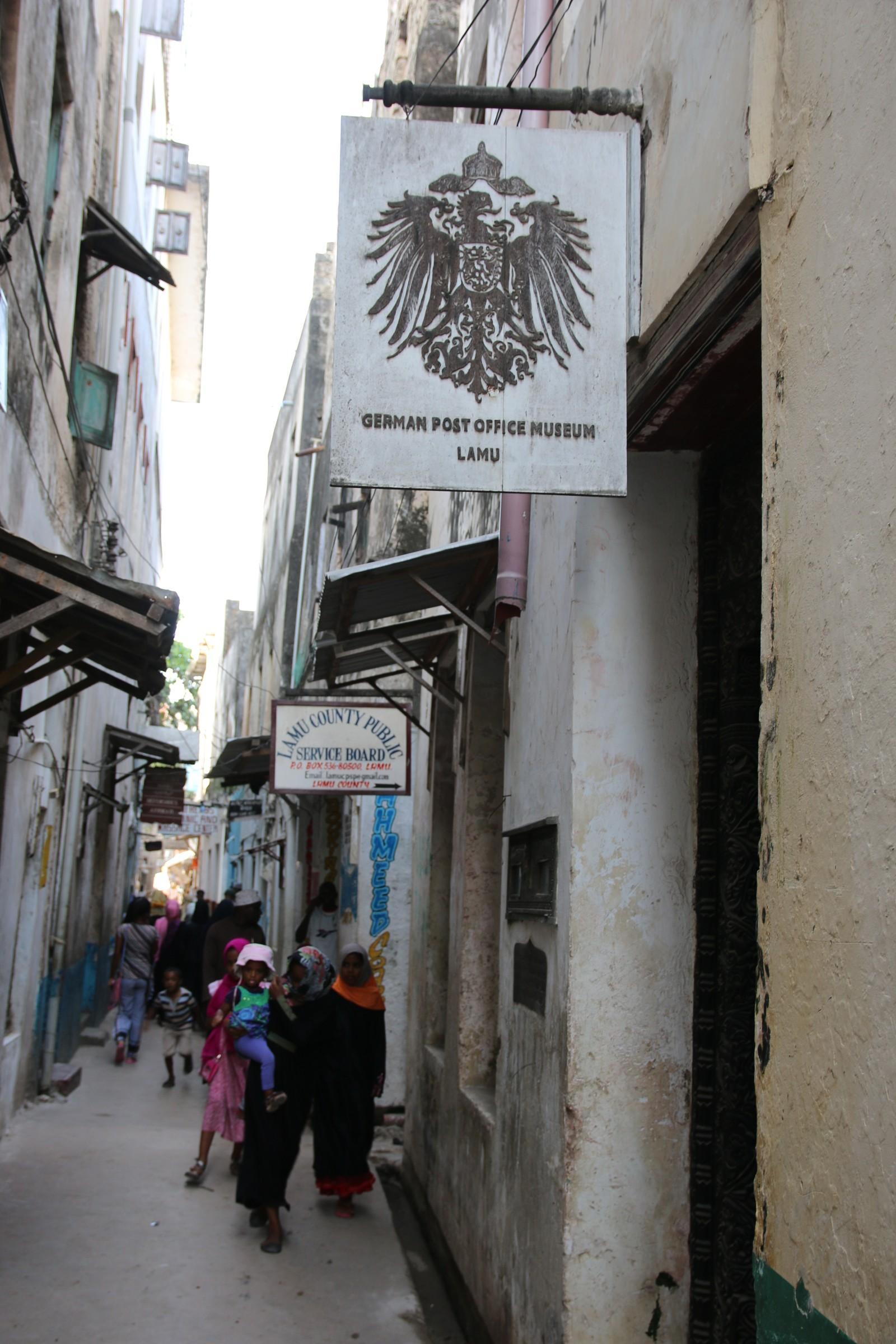 Det tyske postkontoret fra 1889, det første i Øst-Afrika.