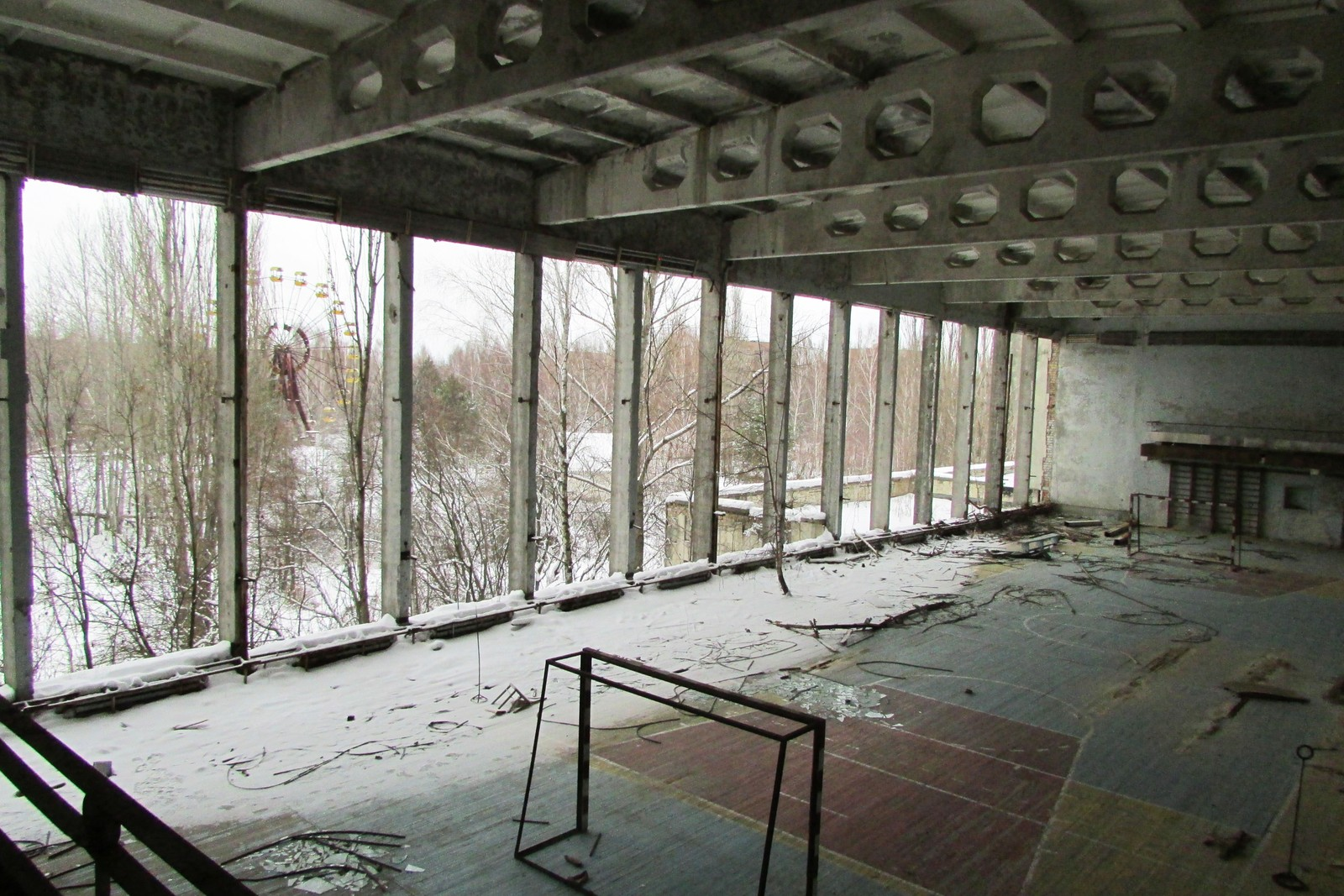 Idrettshallen i kulturpalasset «Energetik» om vinteren.