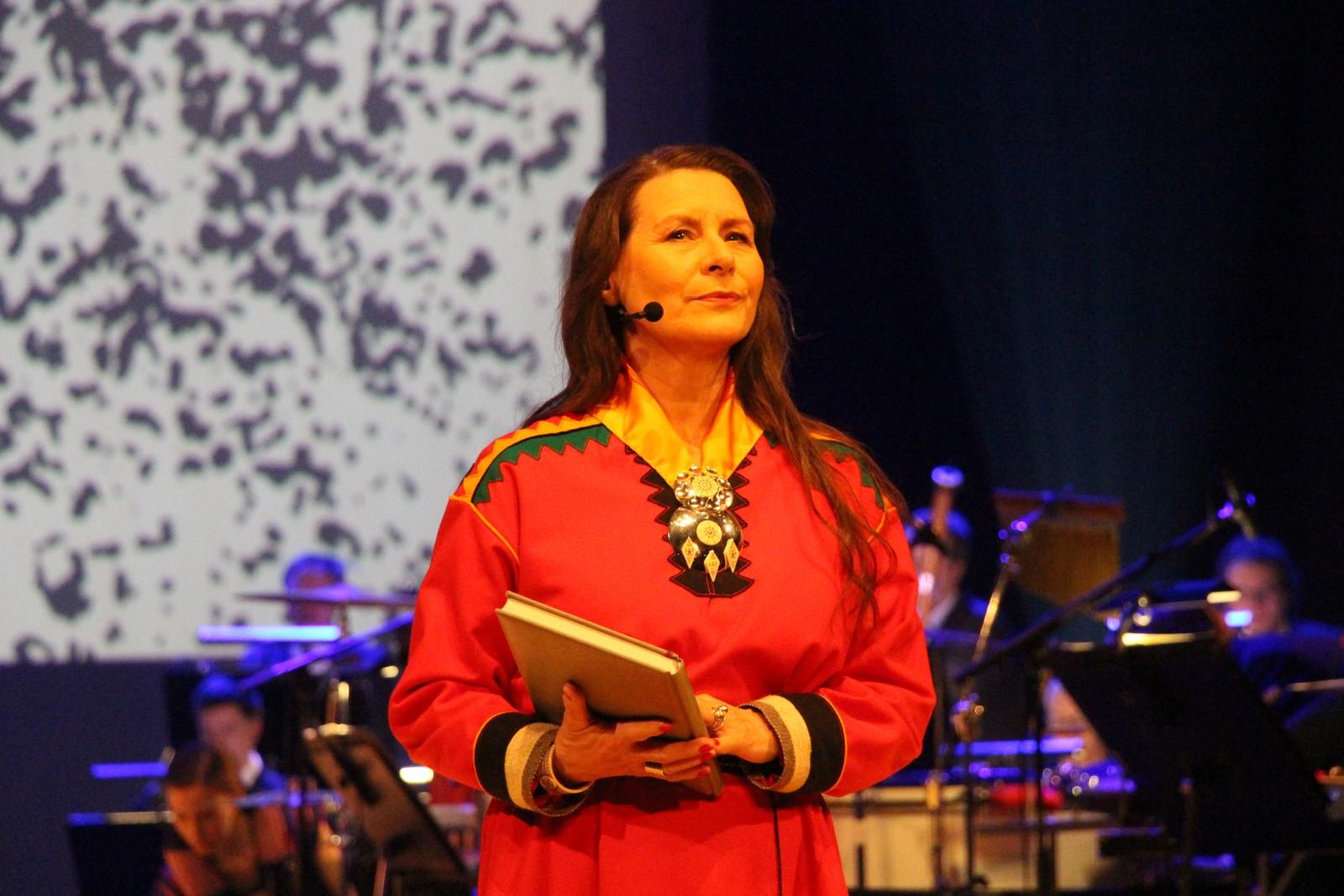 Skuespiller Mary Sarre under generalprøven til jubileumsforestillingen