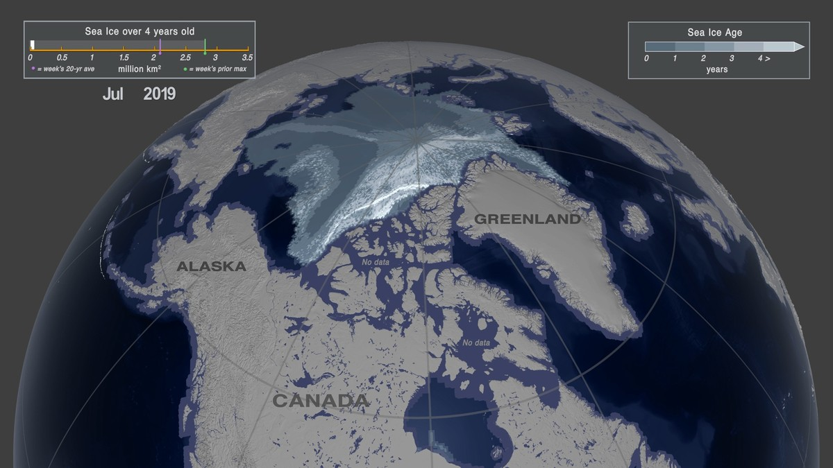 NASA sjøis Arktis 2019