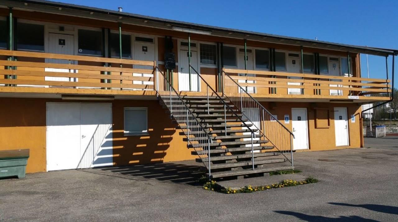 Inngang til garderober i 2. etasje ved Kristiansand stadion