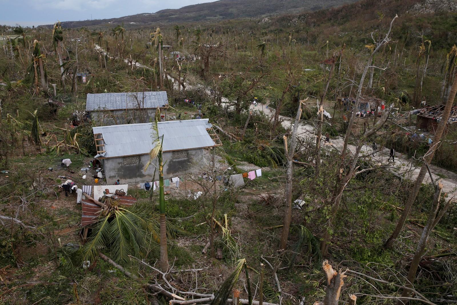 Haiti har ikke mye skog og landet sliter etter hver storm med erosjon, og Matthew har ikke gjort situasjonen bedre.