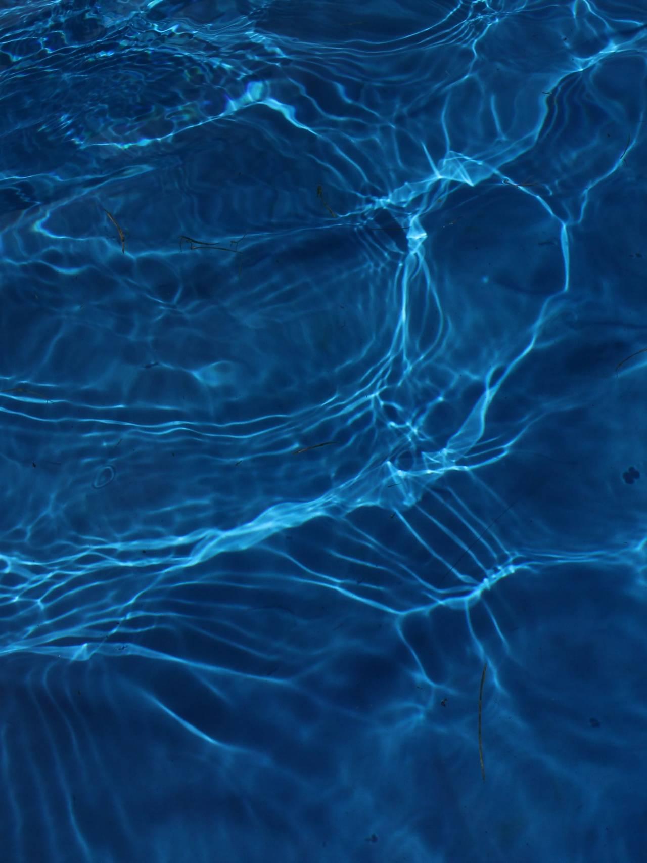Blått vann.