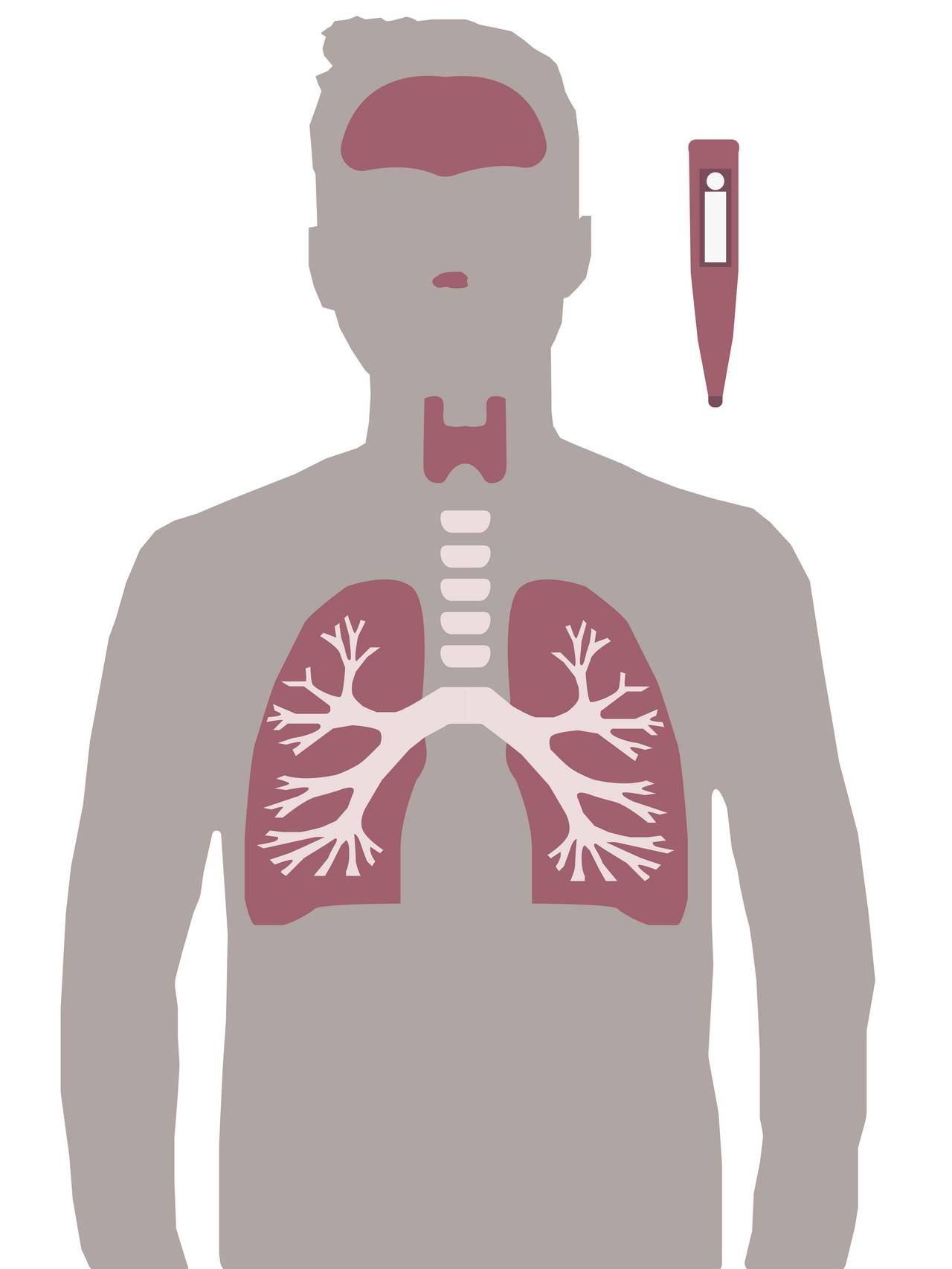 silhuett av mann med vondt i lungene