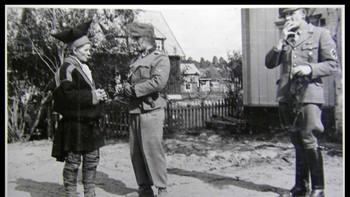 Nazister på beøk i en samisk landsby i 1942