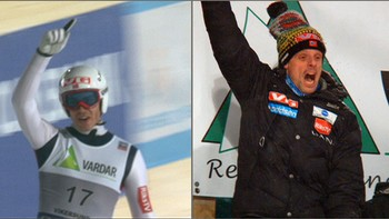 Andreas Stjernen ble beste norske i Vikersund lørdag. Han svevde ned til en fjerdeplass. Det gjorde landslagstrener Alexander Stöckl glad. Vant gjorde Gregor Schlierenzauer. Se Stjernens hopp her.