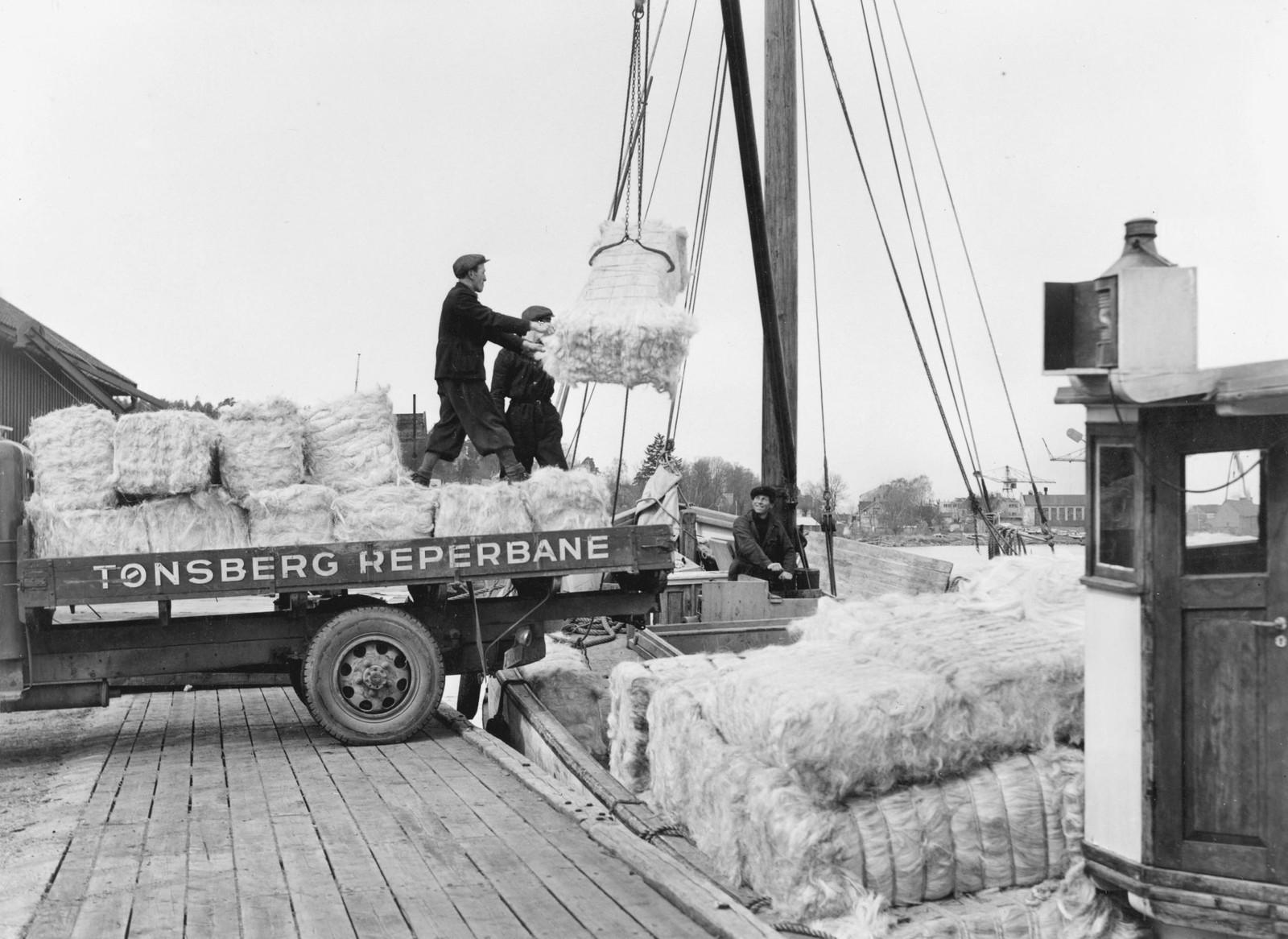 Lossing av hamp 1947.
