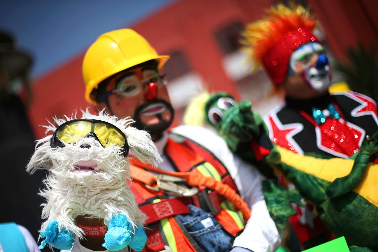 Flere hundre klovner samlet seg til den 22. årlige latinamerikanske klovnekonferansen i Mexico City.