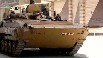 Syrisk stridsvogn i Damaskus