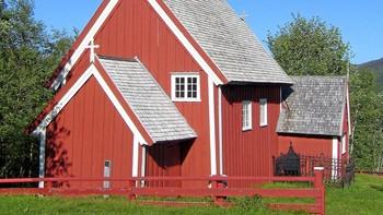Gløshaug kirke på Gartland (fra 1689)