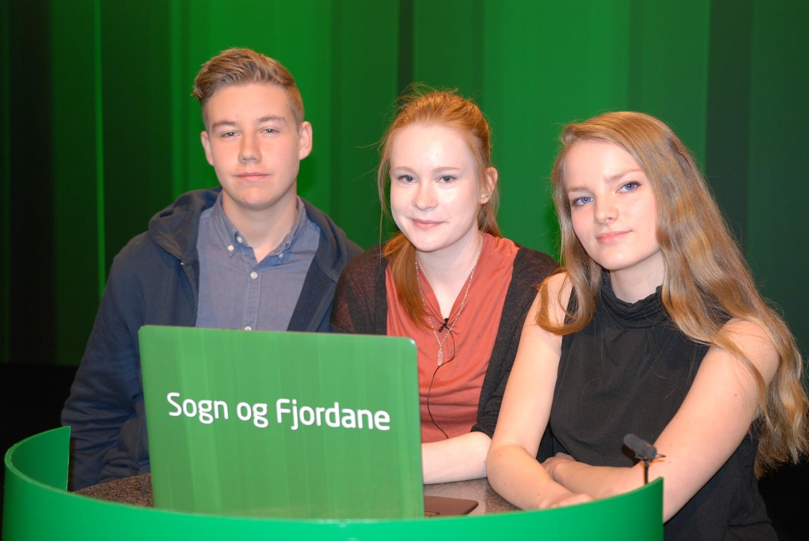 SOGN OG FJORDANE: Førde ungdomsskule representert ved Pål Erik Flølo, Ingrid Bolstad og Jenny Heggheim Myklebust.