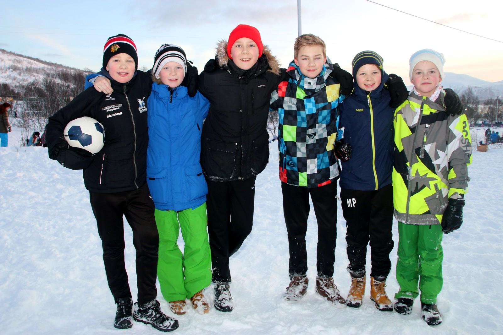 Isak Kastnes, Elias Walle Ramberg, Vebjørn Bakland, Elias Nordmo Johansen, Magnus Pedersen og Marius Sollid.