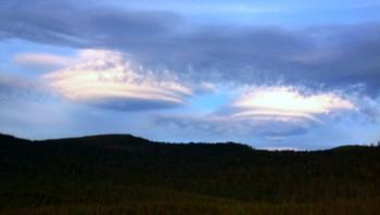 Merkelig sky over Storforshei i Rana
