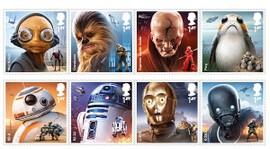 Bildt av åtte frimerker