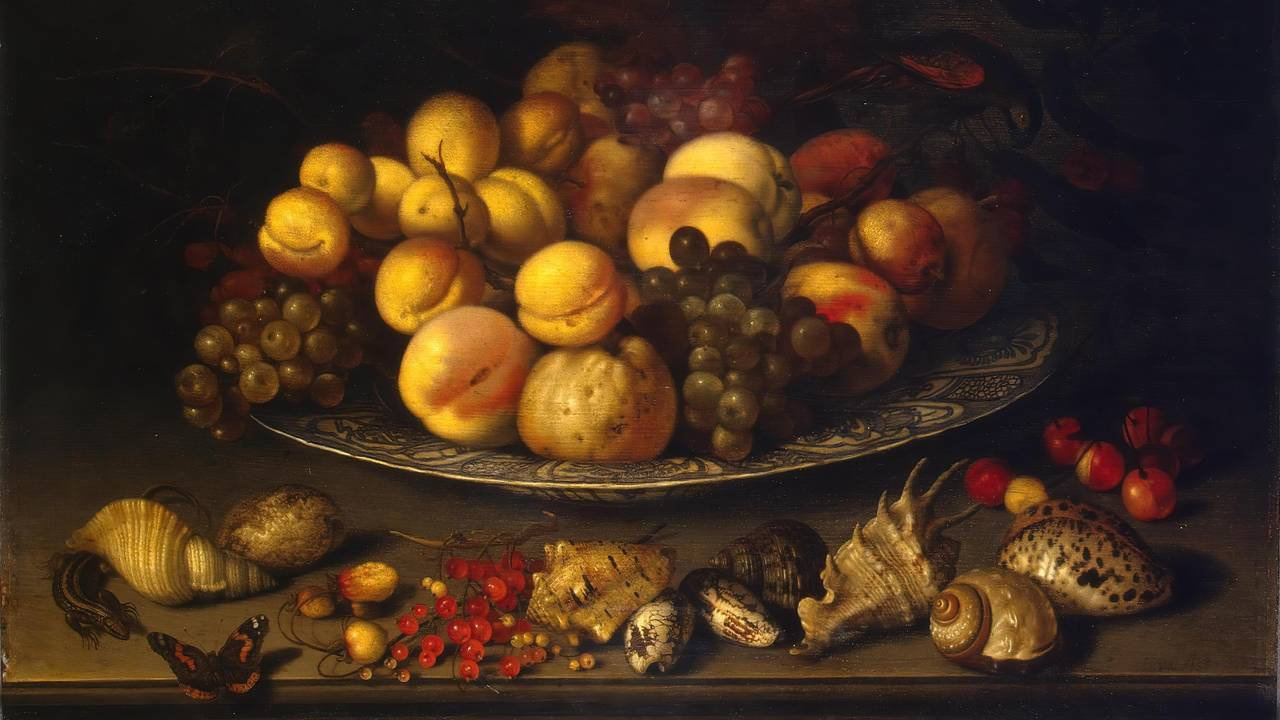 Plate with Fruit and Shells