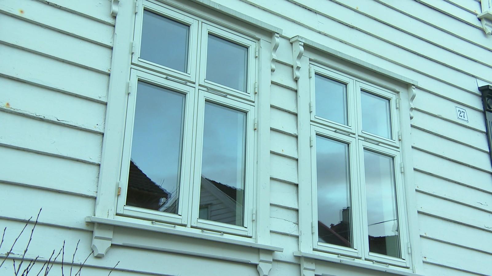 Også eldre hus er ofte hvite.