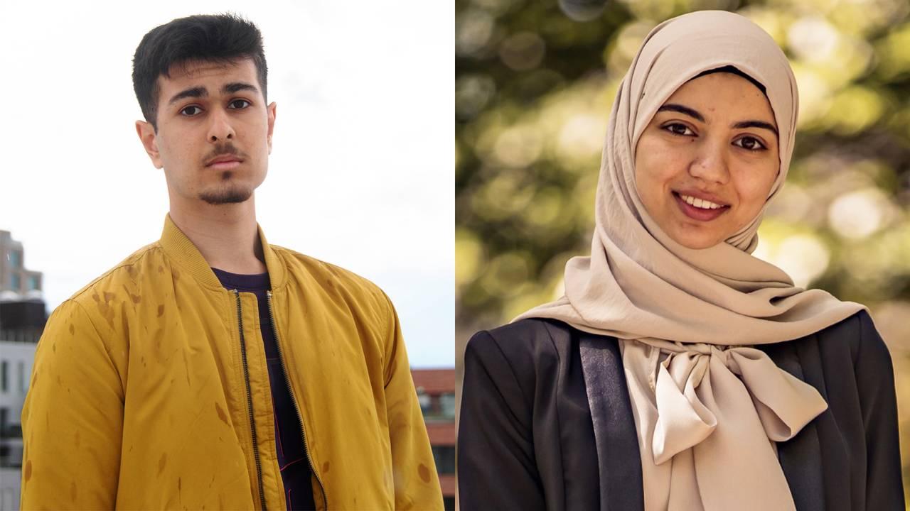 Portrettbilde av Muneeb og Fatima