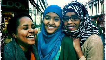 Nada Mohamed, Sundus Osman og Huda Adan.