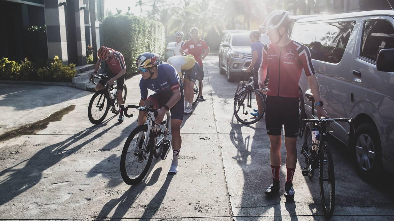 Før sykkeltur