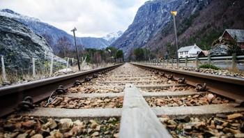 Stengt jernbane gjennom Romsdalen