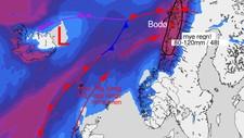 Vær - Foto: Meteorologene/NRK