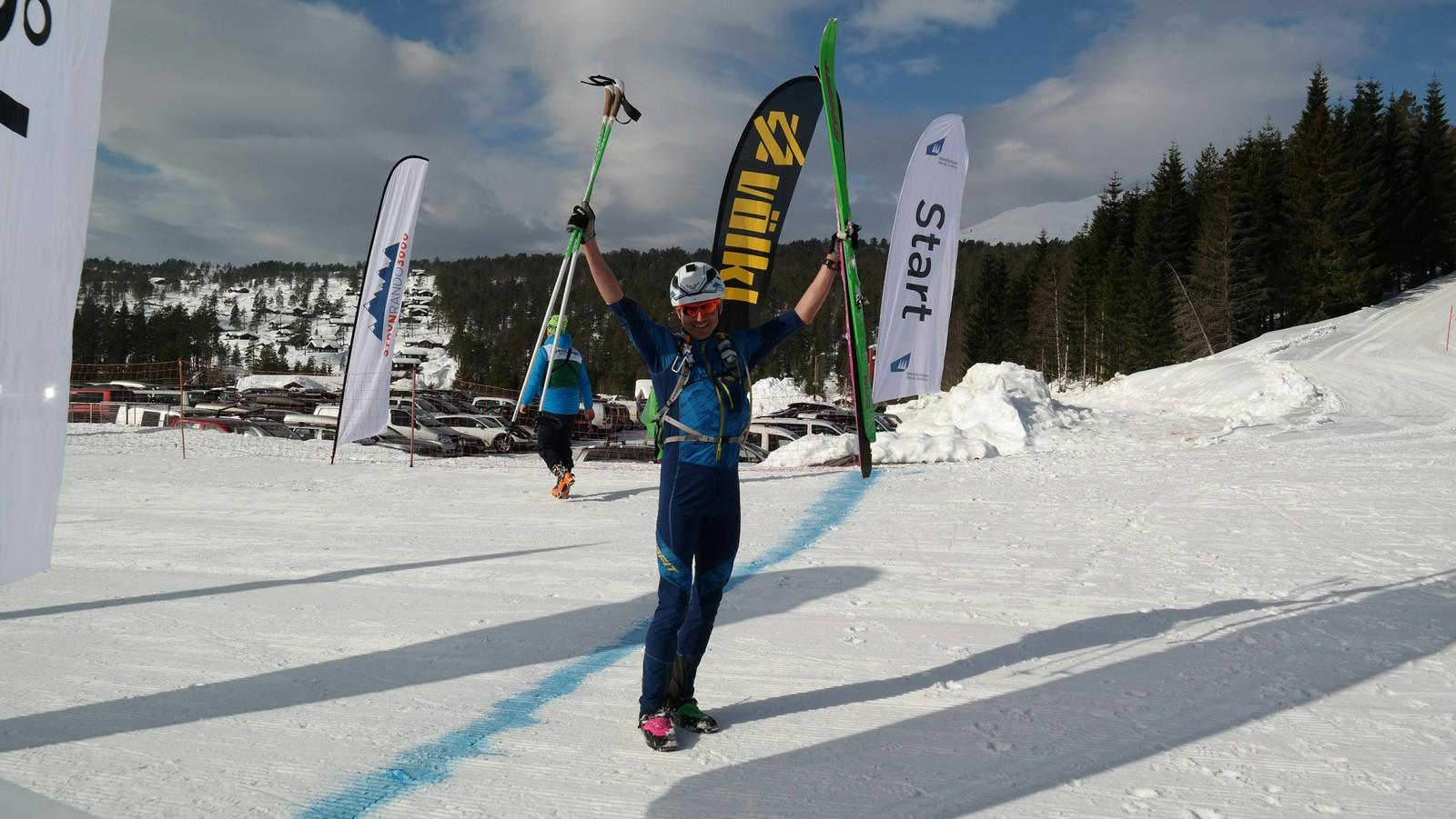 Ein glad vinnar i konkurranseklassen, Lars Eirik Skjervheim.