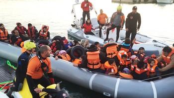 Båtflyktninger på Khios