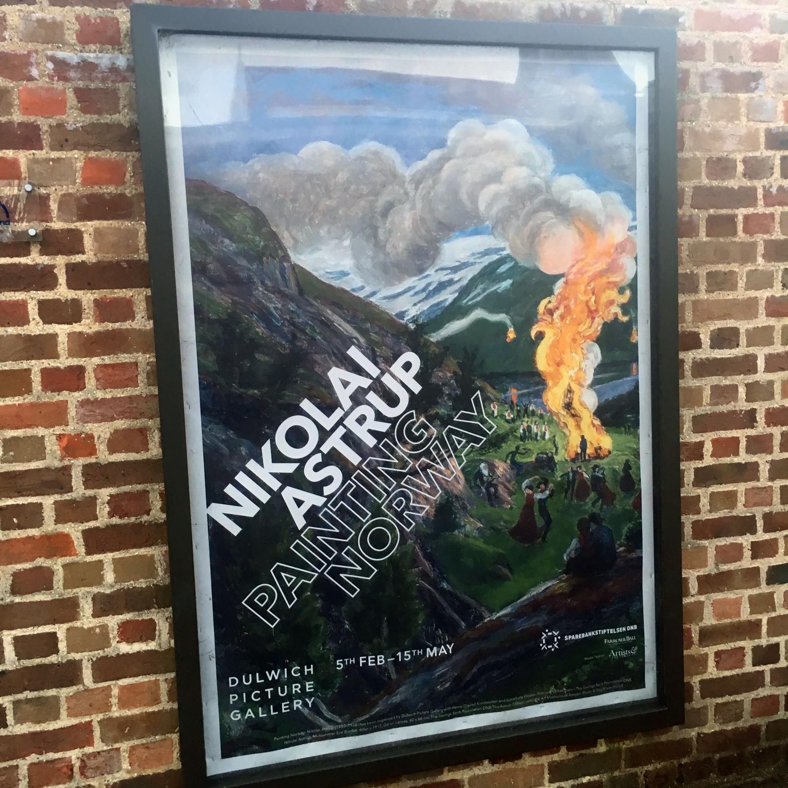 Denne plakaten kan ein sjå på ulike undergrunnstasjonar i London.
