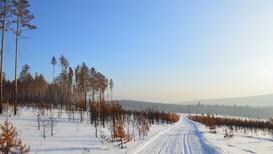 EKSTREMT KALDT: På vinteren kan det bli veldig kaldt i Sibir, spesielt i innlandet. Snøen som faller kommer som regel i små mengder.
