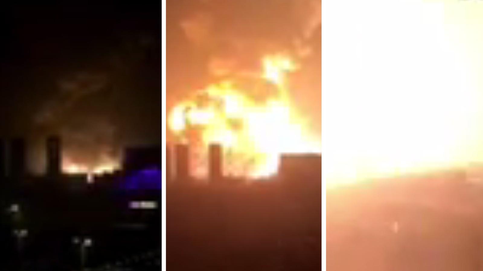 VOLDSOMT: En enorm eksplosjon rystet et område utenfor den kinesiske byen Tianjin onsdag.