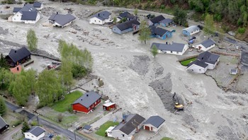 Flommen på Kvam førte til store ødeleggelser i 2013