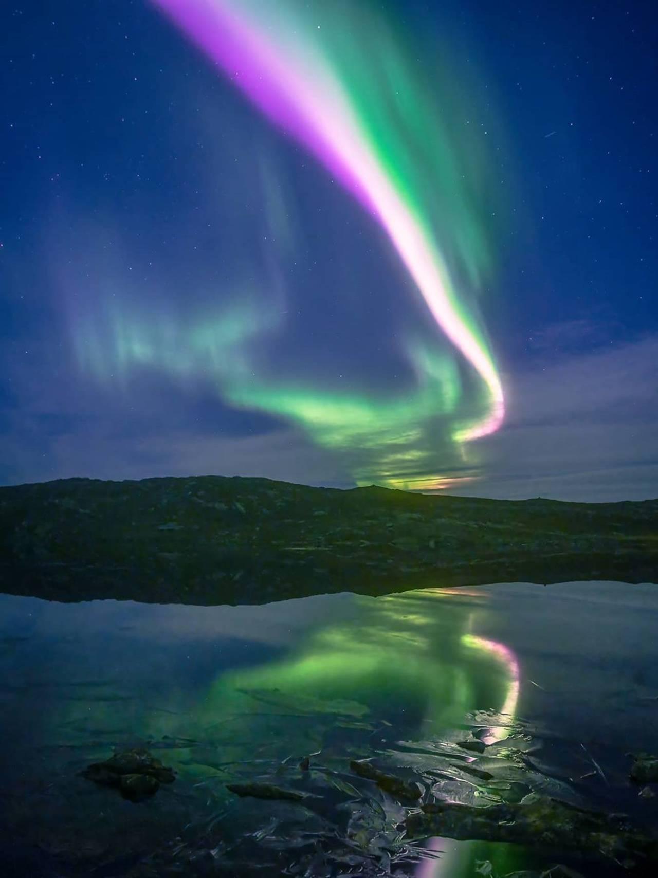 Nordlys over Aunfjellet
