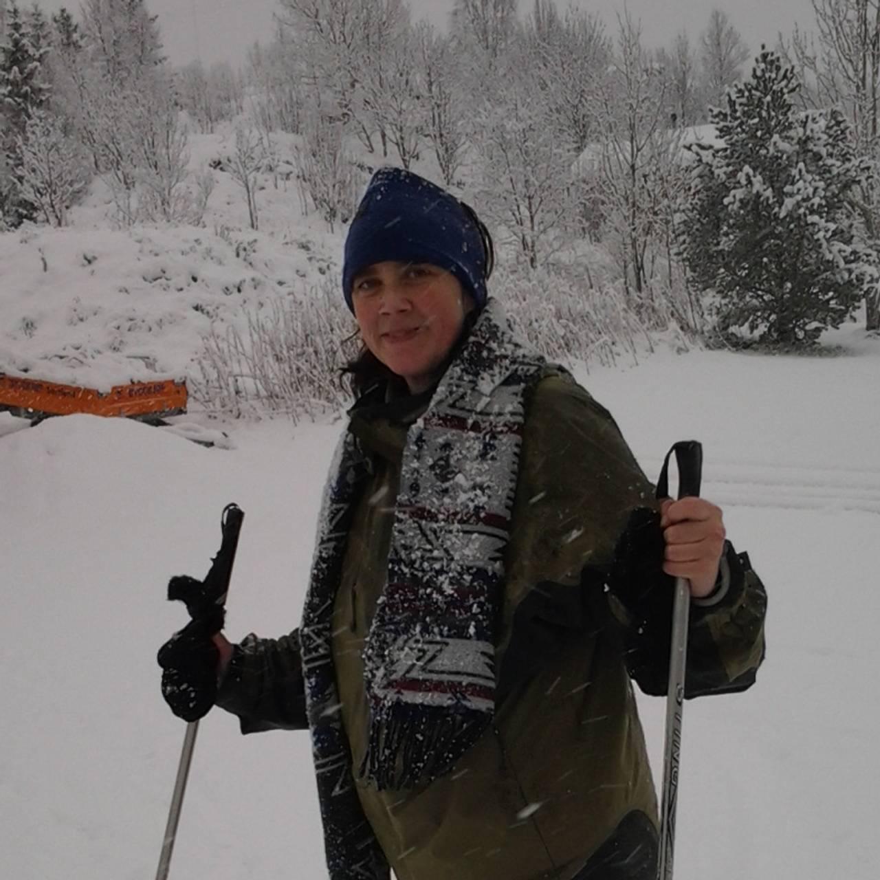 Ulrika Sandén på ski.