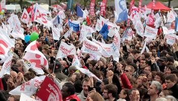Tilhengere av Francois Hollande