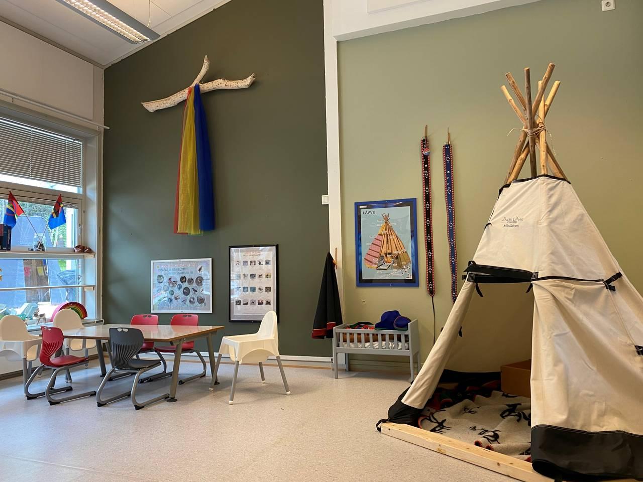 Bilde av den samiske barnehageavdelingen.